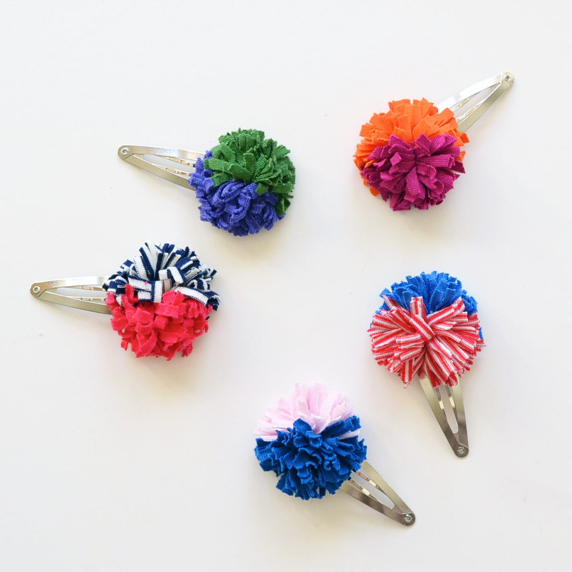 color block pom // hello shiso hair accessories for girls