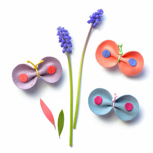 Beautifully designed butterfly skipper hair clips from Hello Shiso stay in place with super-strong pinch clips.