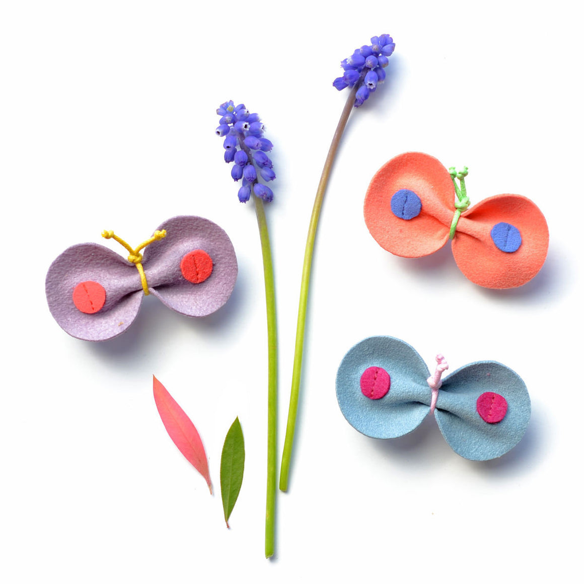 skipper butterfly pinch hair clip  // hello shiso accessories for girls