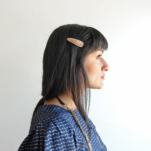 metallic cork clips // hello shiso hair accessories for girls
