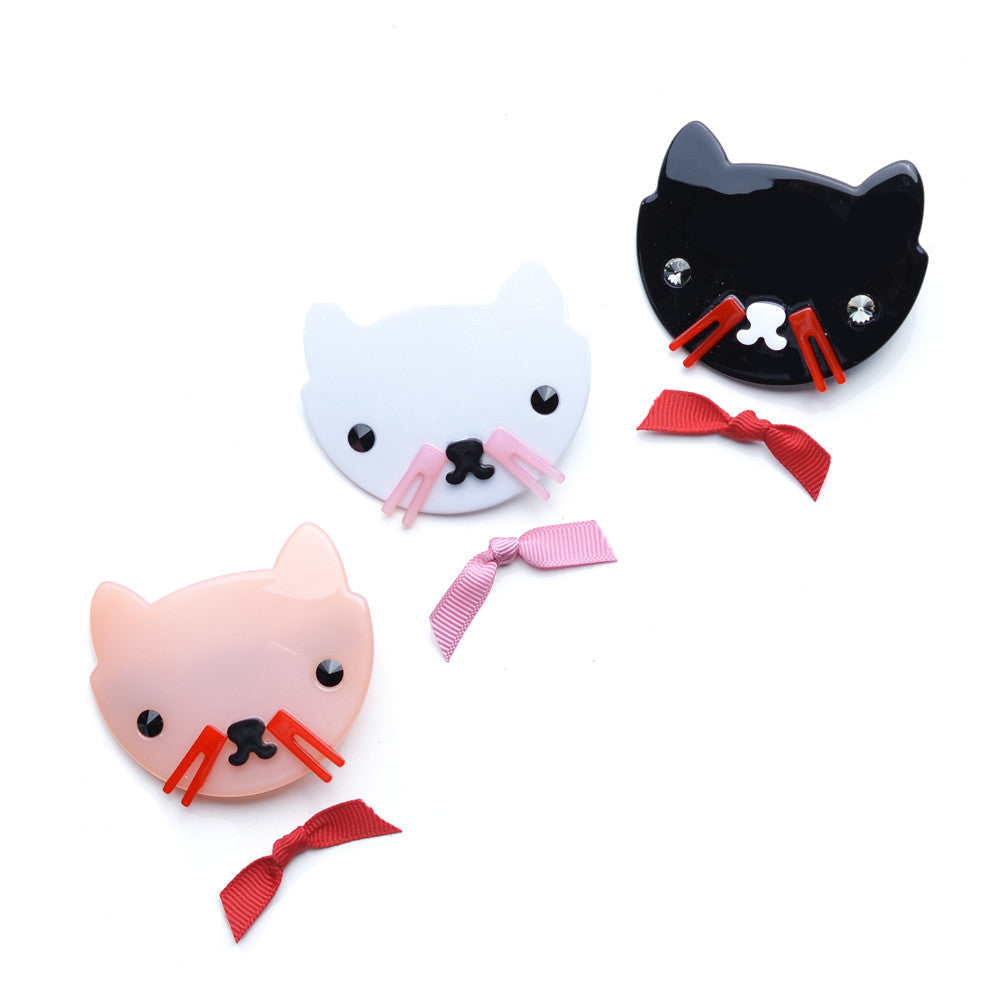 acrylic cat pinch clip  // hello shiso accessories for girls