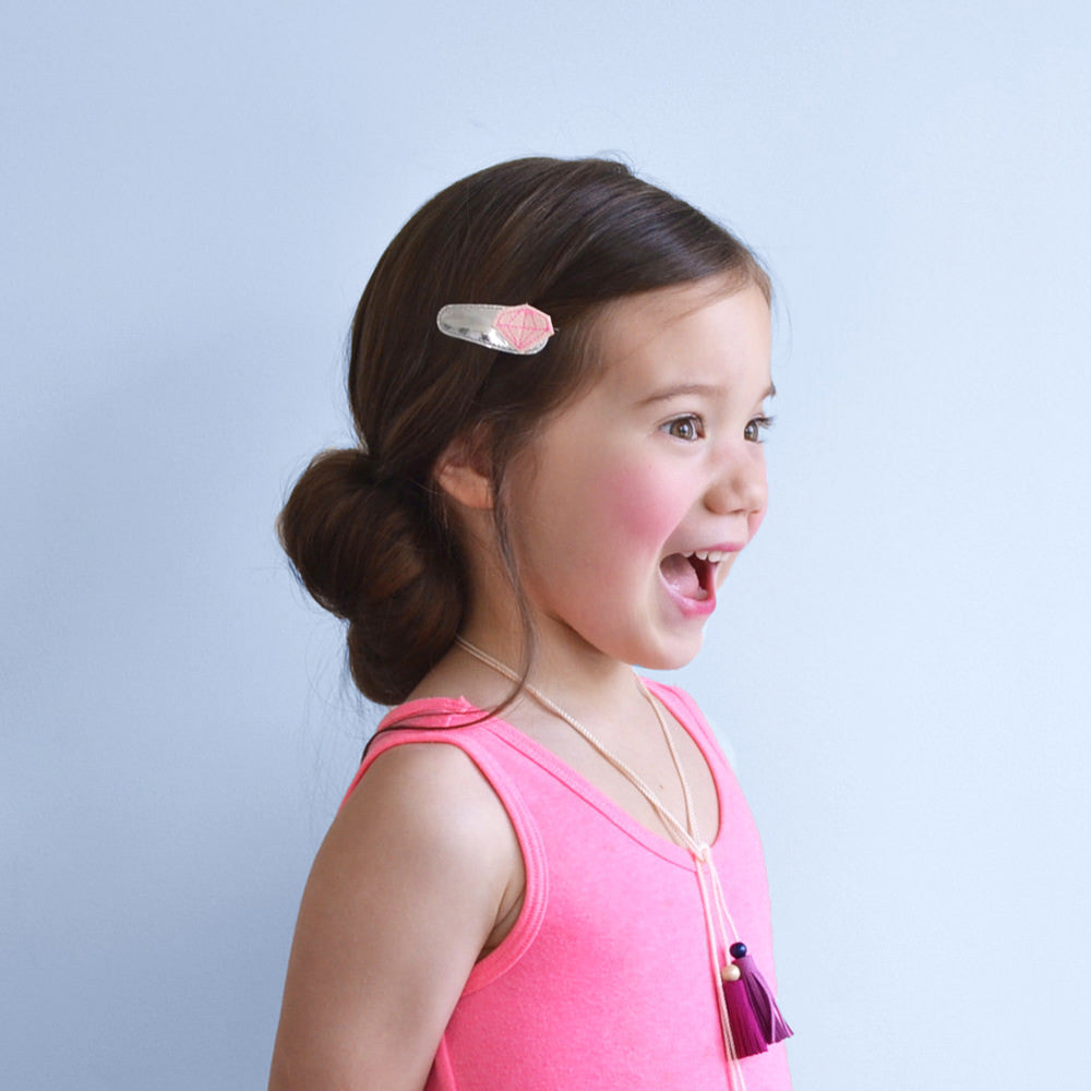 diamond clips // hello shiso hair accessories for girls