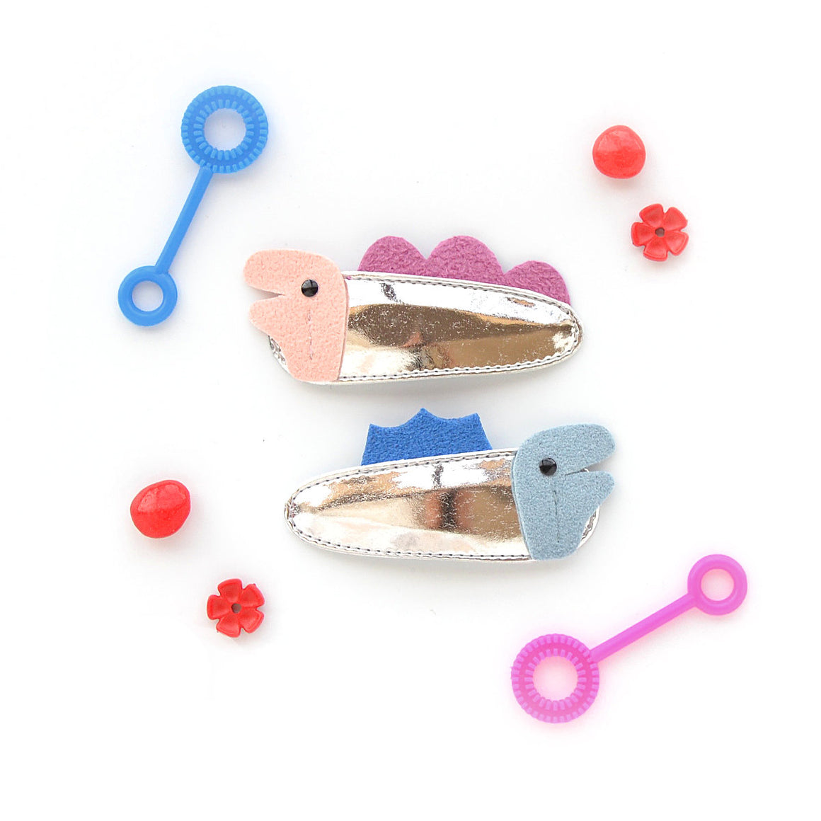 dinosaur clips // hello shiso hair accessories for girls