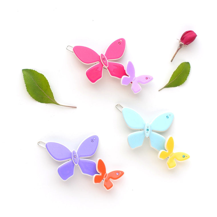 acrylic butterflies clip  // hello shiso accessories for girls