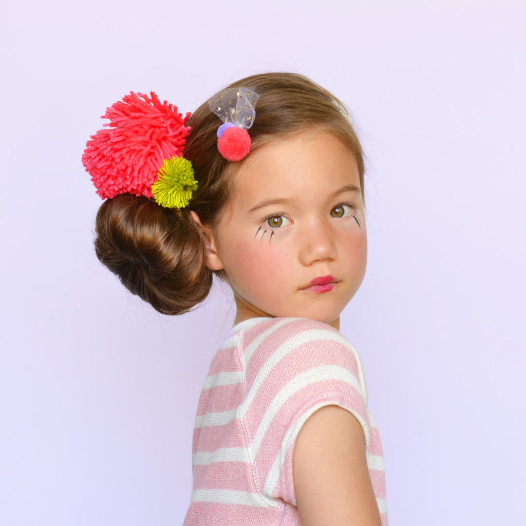 double pom clip // hello shiso hair accessories for girls
