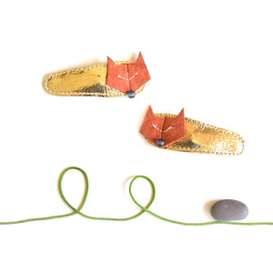 foxy clips // hello shiso hair accessories for girls