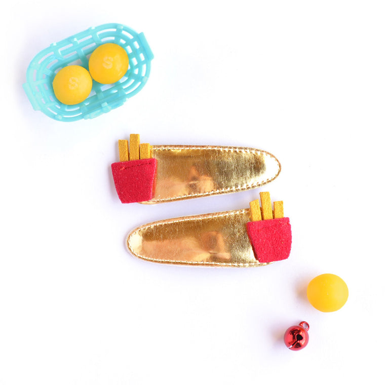 french fries snap hair clip // hello shiso hair accessories for girls