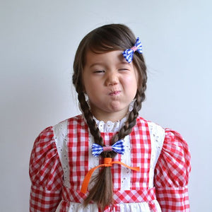 gingham bow // hello shiso hair accessories for girls