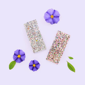 glitter bomb clip // hello shiso hair accessories for girls