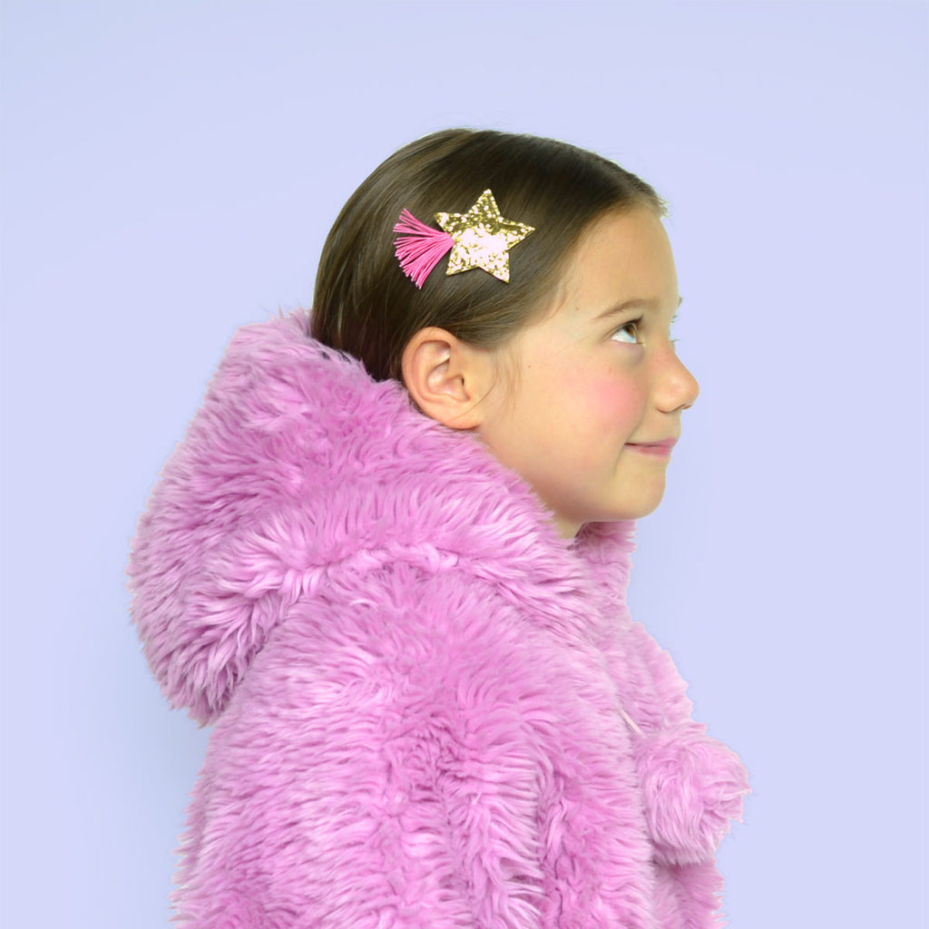glitter star clip // hello shiso hair accessories for girls