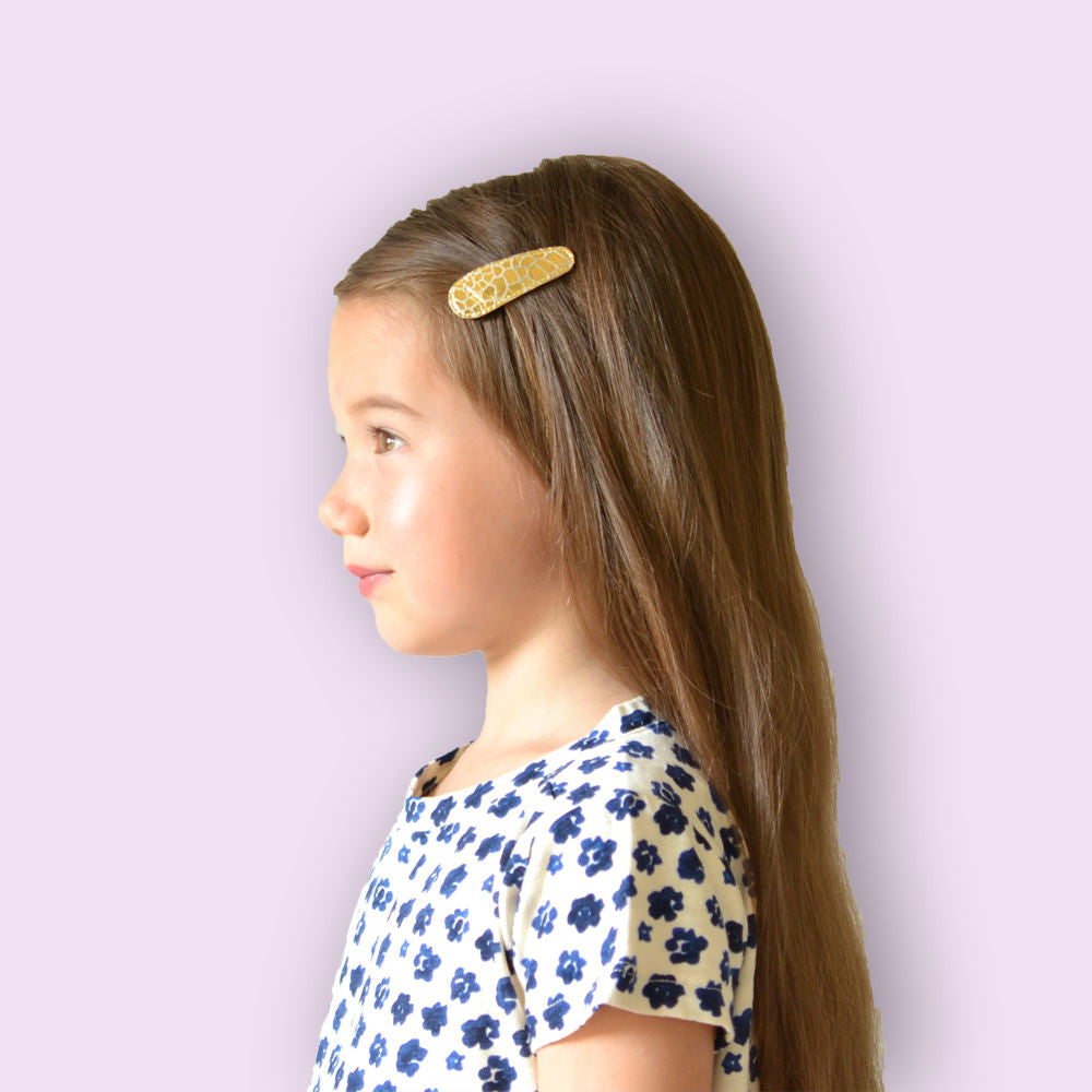 gold croc clips  // hello shiso hair accessories for girls