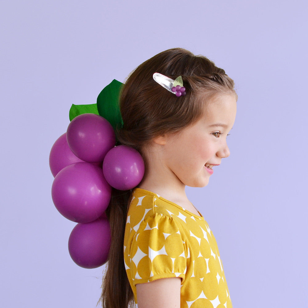 grape clip // hello shiso hair accessories for girls