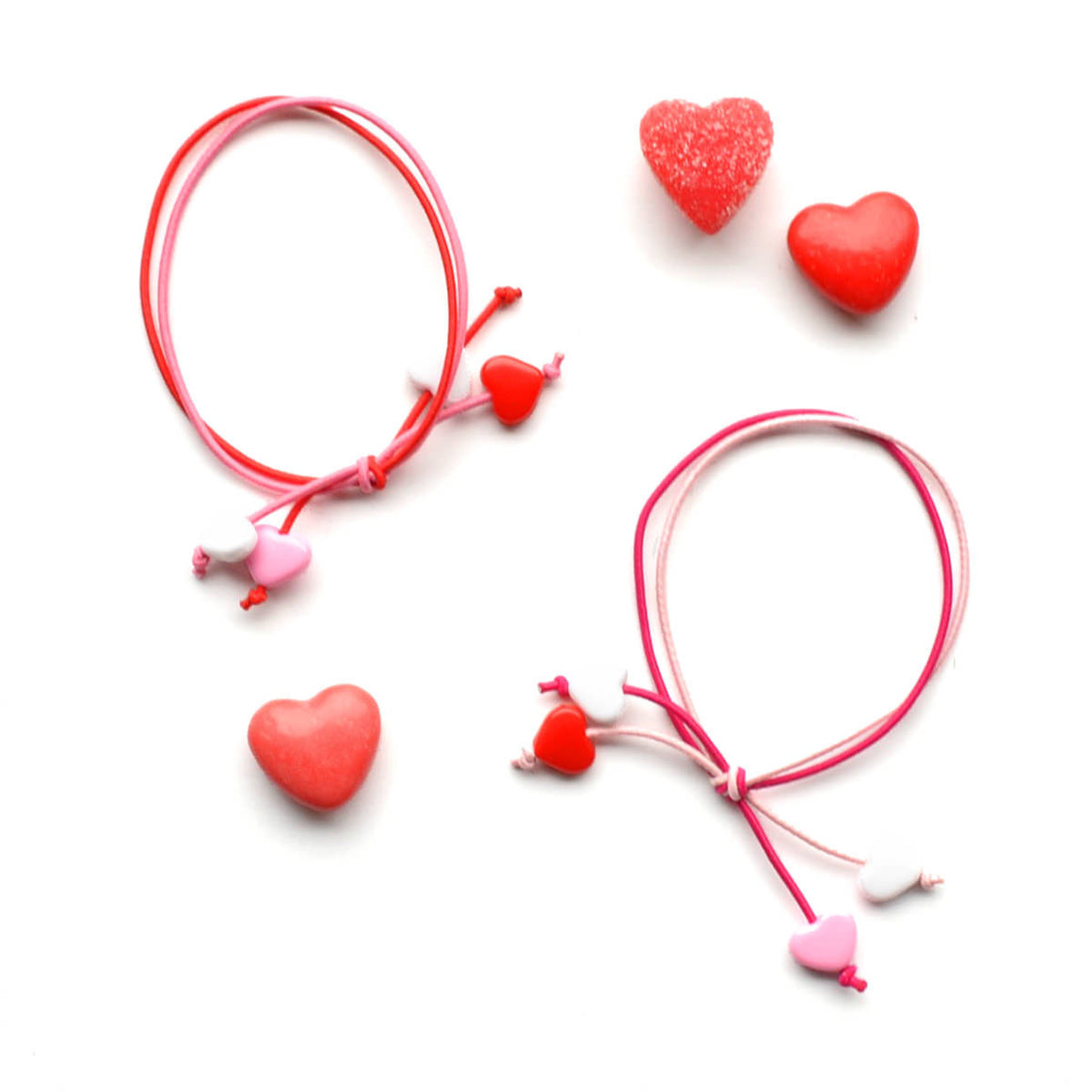 mini hearts hair tie set // hello shiso hair accessories for girls