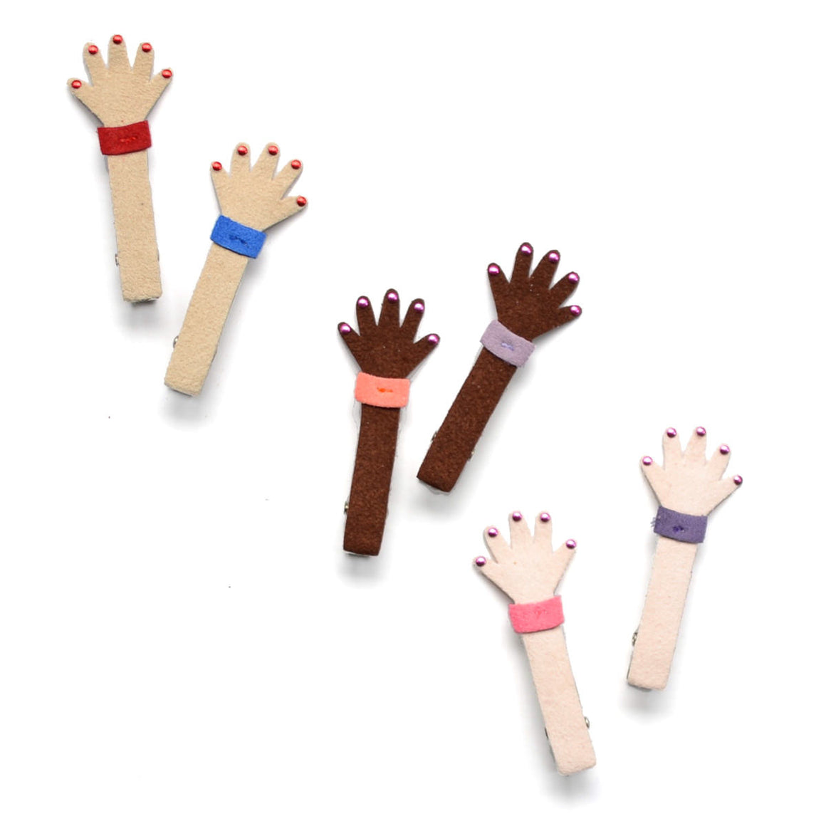high five clips // hello shiso hair accessories for girls