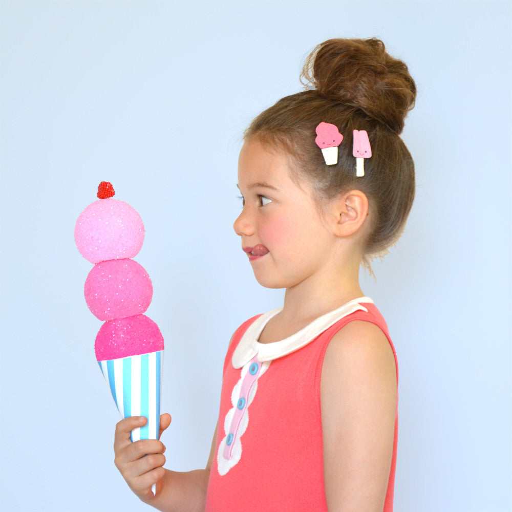ice cream social clips // hello shiso hair accessories for girls