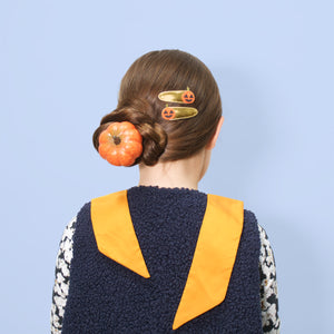 jack o'lantern clips // hello shiso hair accessories for girls
