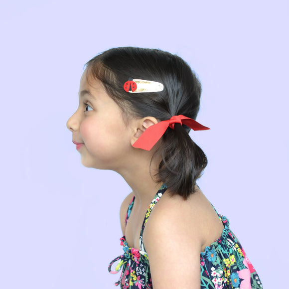 ladybug clips  // hello shiso hair accessories for girls