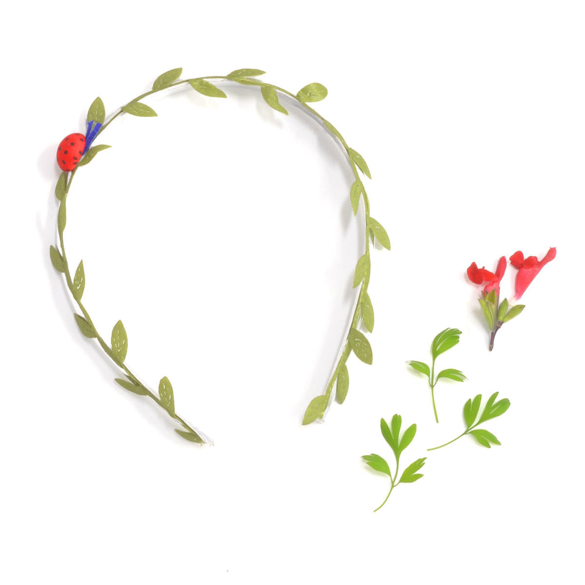 ladybug headband // hello shiso hair accessories for girls