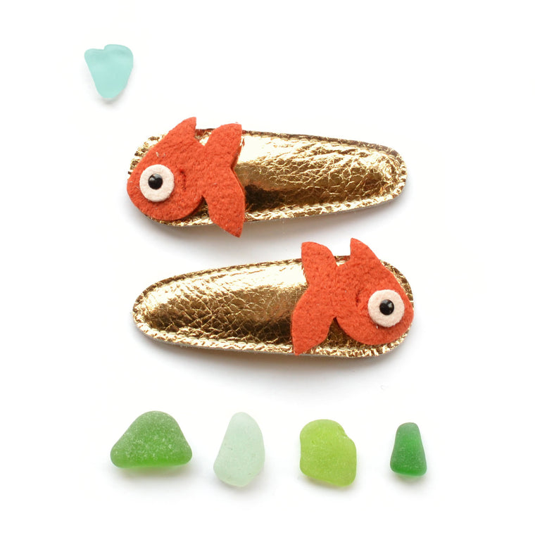lucky fish clips  // hello shiso hair accessories for girls