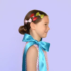 metallic bow clip // hello shiso hair accessories for girls