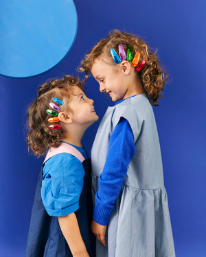 metallic rainbow babies // hello shiso hair accessories for girls