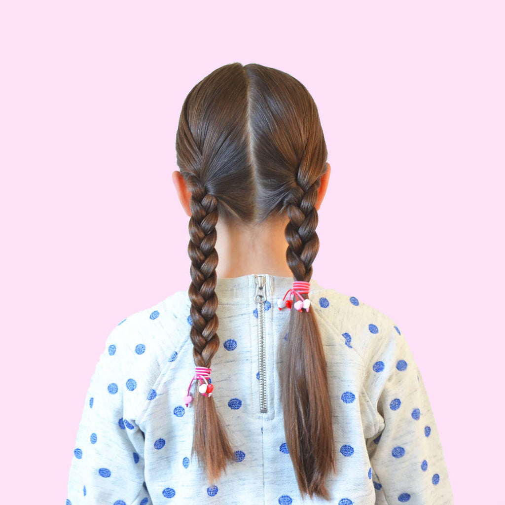 hello shiso hair accessories for girls // mini hearts pony set