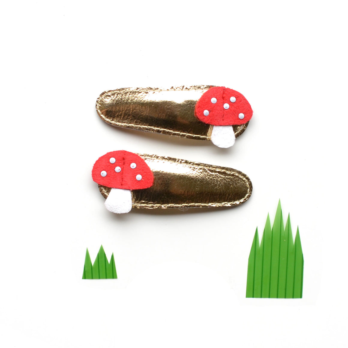 mushroom clips // hello shiso hair accessories for girls
