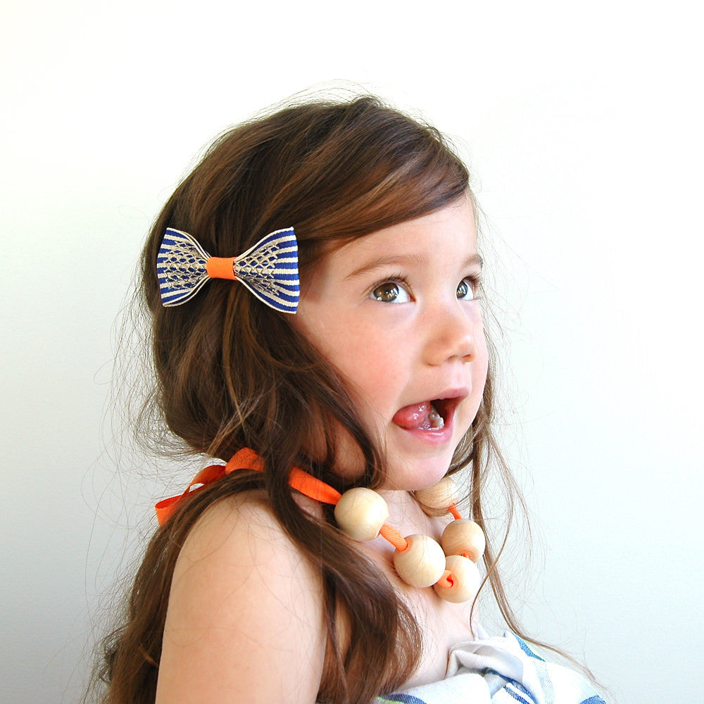 neon stripe clip // hello shiso hair accessories for girls