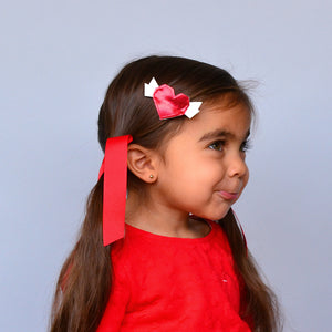 origami heart clip // hello shiso hair accessories for girls