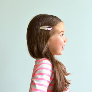 owl clips // hello shiso hair accessories for girls