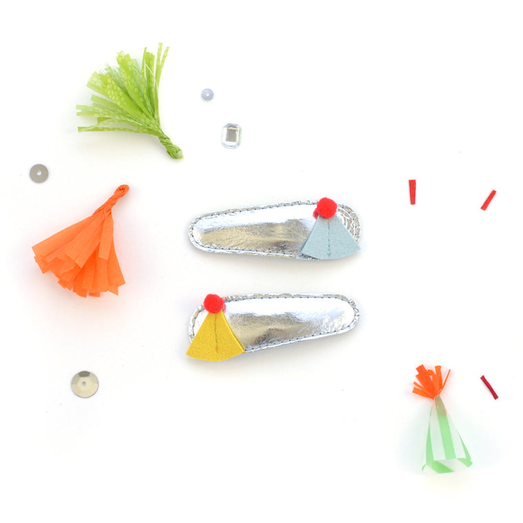 party hat clips // hello shiso hair accessories for girls
