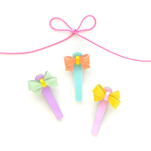 pastel bow clip // hello shiso hair accessories for girls