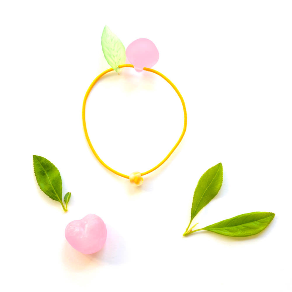 peach hair ties // hello shiso hair accessories for girls
