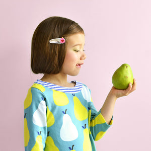 pear clips // hello shiso hair accessories for girls