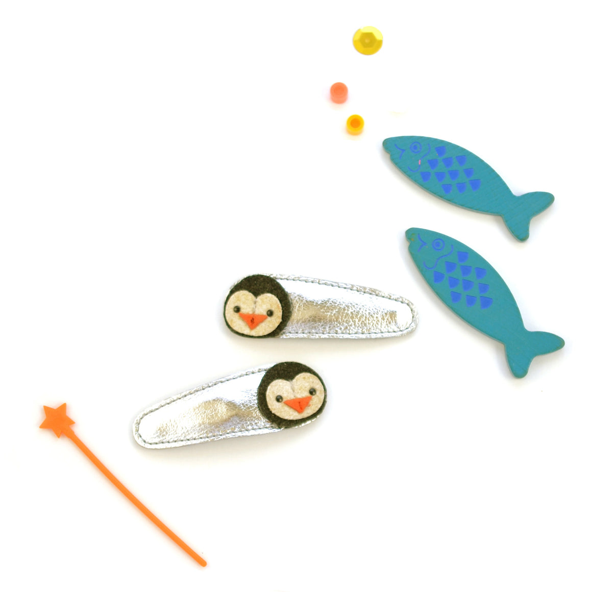 penguin clips // hello shiso hair accessories for girls