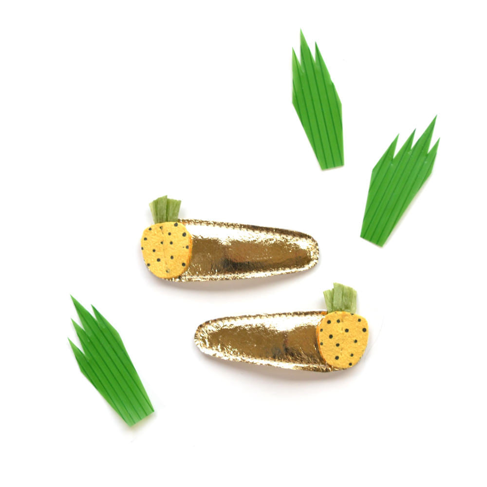 pineapple clips // hello shiso hair accessories for girls