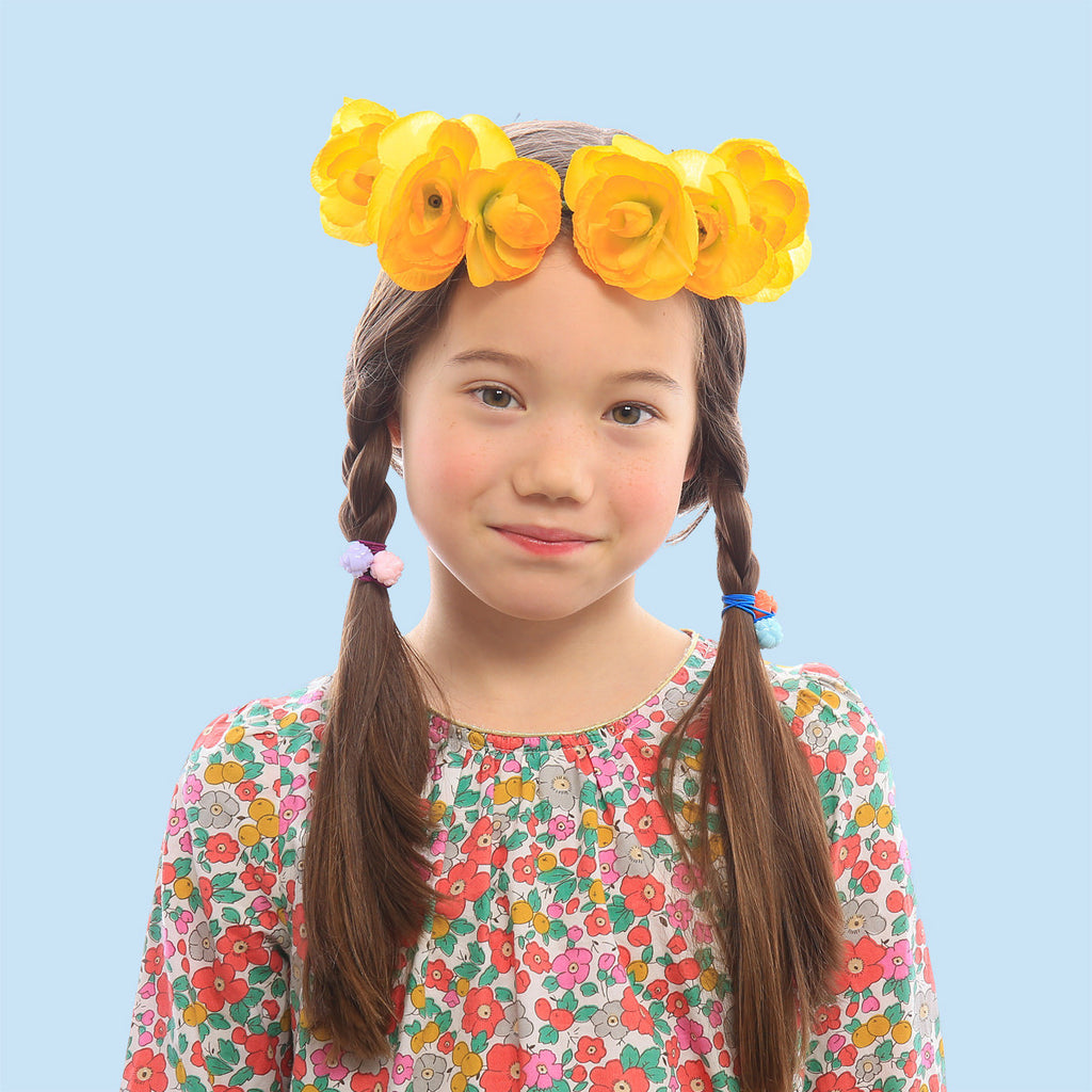 rose ponytail holder // hello shiso hair accessories for girls and women