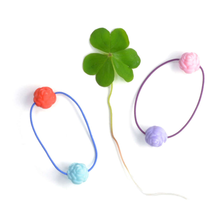 rose ponytail holder // hello shiso hair accessories for girls