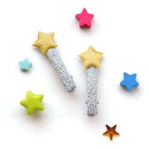 twinkle star clips // hello shiso hair accessories for girls