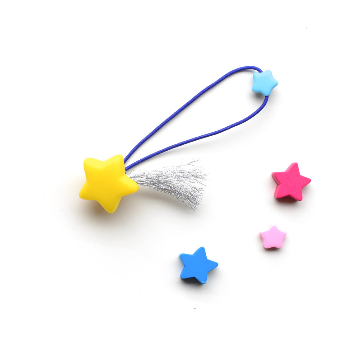 shooting star hair ties // hello shiso hair accessories for girls