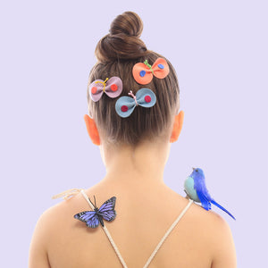 Let your nature lover wear all three of our skipper clips at once, if she wants! We love whimsical looks on little girls.
