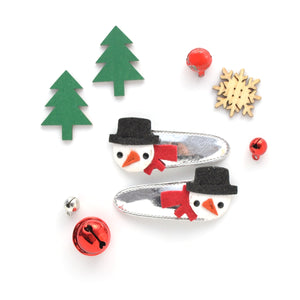 snowman clip // hello shiso hair accessories for girls