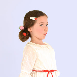 strawberry clips // hello shiso hair accessories for girls
