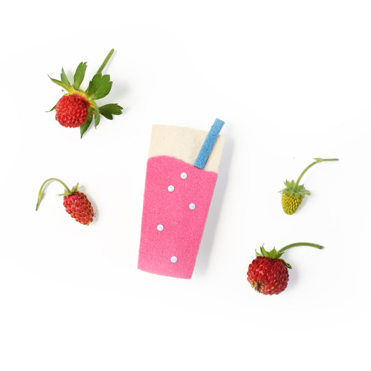 strawberry soda pinch clip // hello shiso hair accessories for girls