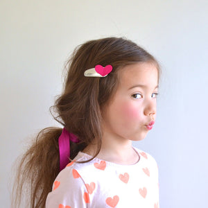 sweetheart clips // hello shiso hair accessories for girls