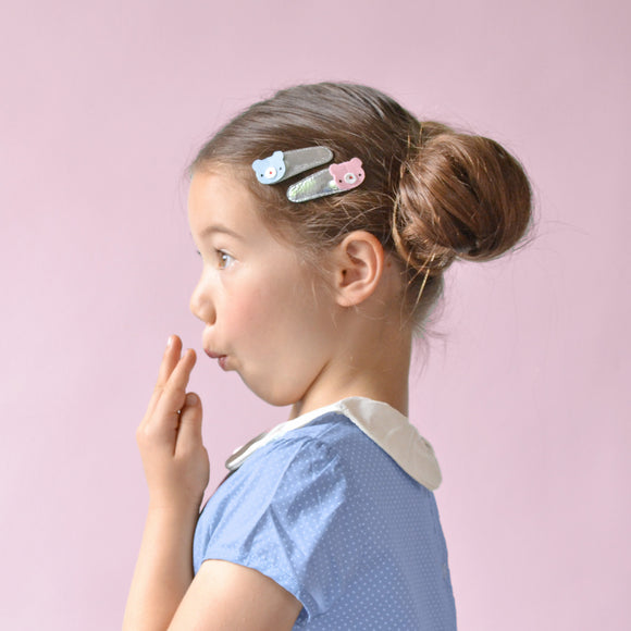 teddy clips // hello shiso hair accessories for girls