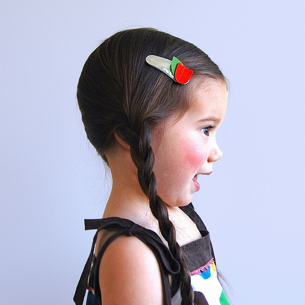 tulips clips  // hello shiso hair accessories for girls