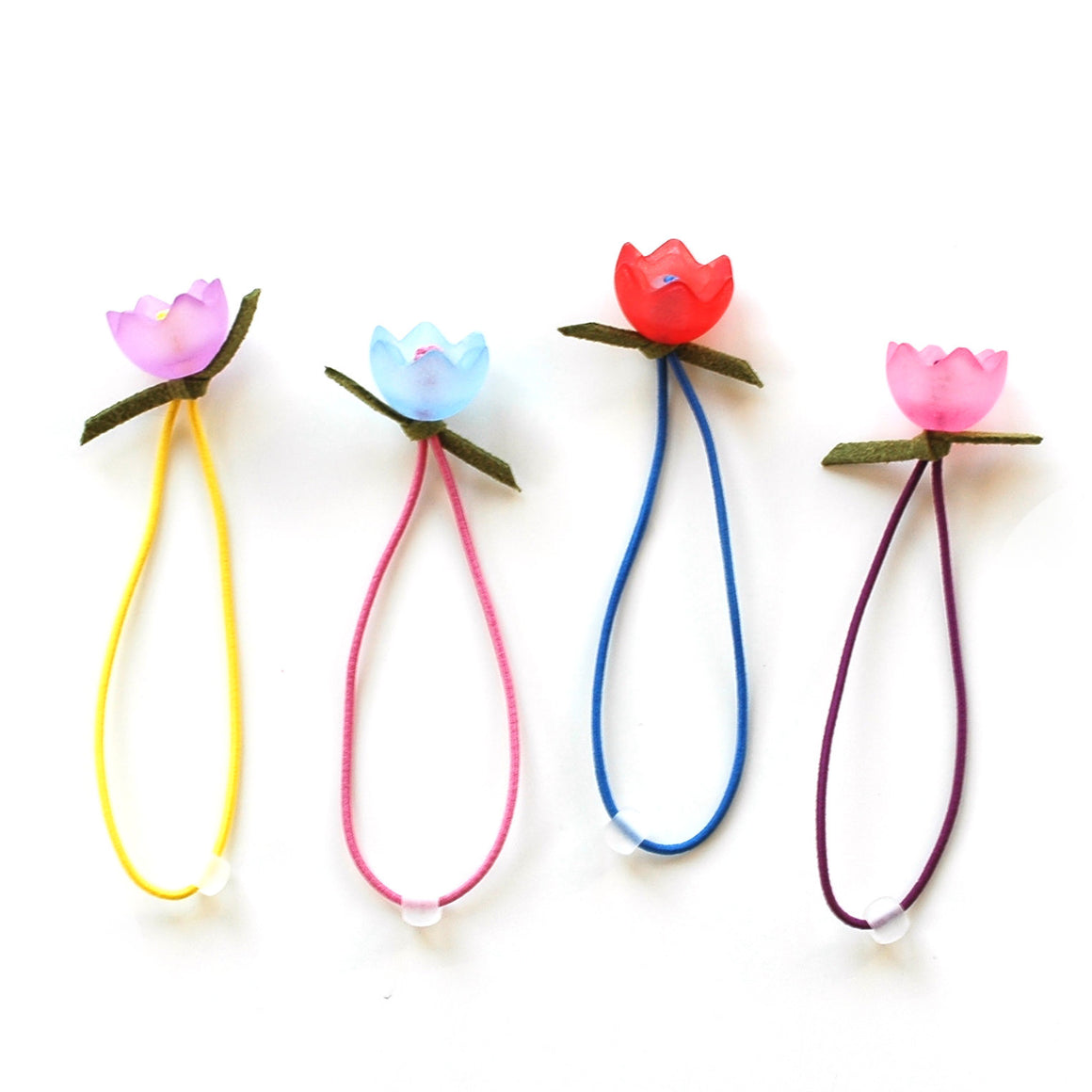tulip hair ties // hello shiso hair accessories for girls