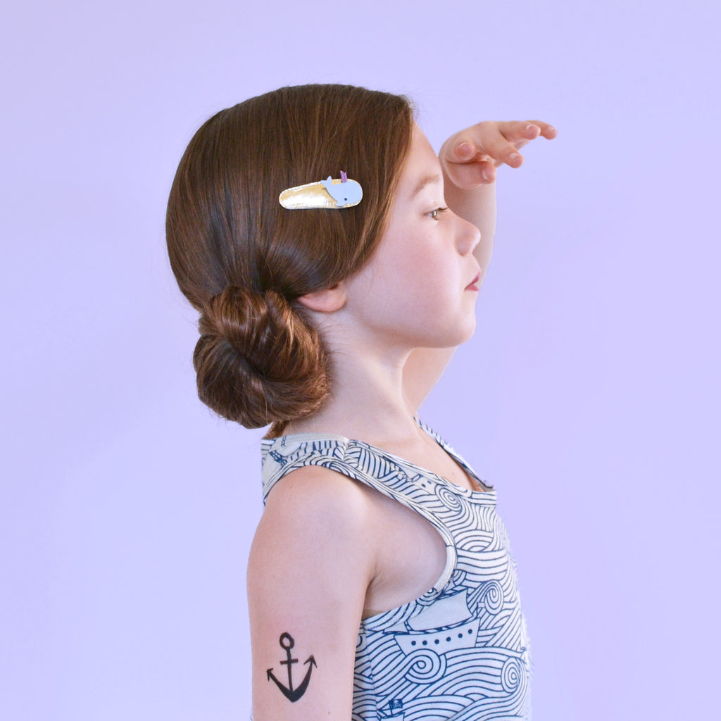 whale clips // hello shiso hair accessories for girls