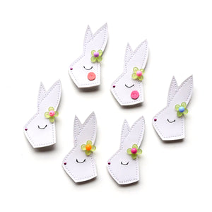 hello shiso cute flower bunny hair clip accessories for girls. Perfect for spring and Easter.